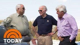 Download How Jay Leno Scared Secret Service, Got Joe Biden To Do Doughnuts In A Corvette | TODAY Video