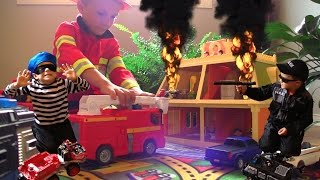 Download FIRE FIRE Again?! Call the Kid Police and Fireman. Bad guys up to no good. Video