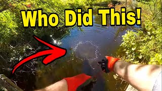 Download Stolen Items Found Magnet Fishing A Roadside Creek! *JACKPOT* Video