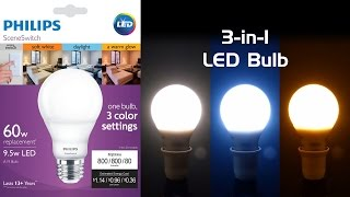 Download Review: Philips SceneSwitch LED Bulb - Three Colors of White in One Video