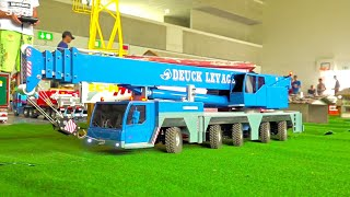 Download EXTREME BIG RC CRANE LIEBHERR I MOBIL CRANE I MONSTER HIGH TOWER CRANE I SELF-BUILD MODEL CRANE Video