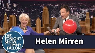 Download Helen Mirren Chats with Jimmy While Sucking Helium Video