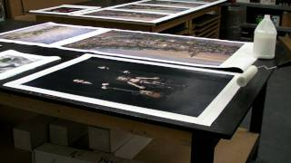 Download Varnishing a Canvas Giclee Print Video