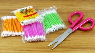 Download Best craft with cotton buds   Best craft idea   DIY arts and crafts   DIY cotton buds Video