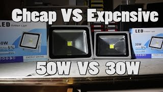Download #2 50W (Cheap) VS 30W (Expensive) LED Floodlight Teardown and Review Video
