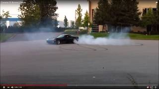 Download Corvette Grand Sport Doughnuts in the parking lot Video