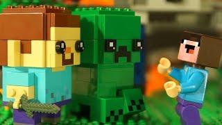 Download СТИВ и КРИПЕР BrickHeadz LEGO Minecraft - Лего НУБик Майнкрафт Мультики и ФНАФ FNAF Video