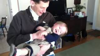Download Daddy tickles Ethan Video
