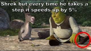 Download Shrek but every time he takes a STEP it gets 5% faster Video