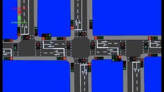 Download Animation: 3 Ampelkreuzungen mit Ampelschaltung Video