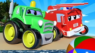 Download Baby Cars - Beach Day at The Playground! - Car City ! Cars and Trucks Cartoon for kids Video