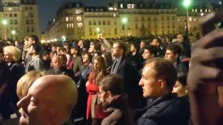 Download THOUSANDS Praying in Paris while Notre-Dame Cathedral burns Video