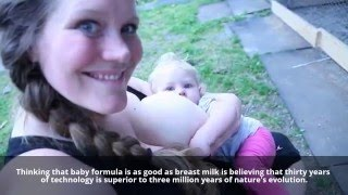 Download Breastfeeding a 15 month old baby outside on the farm Video