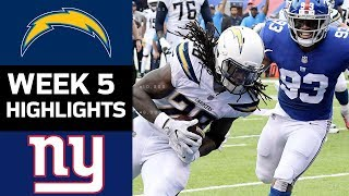 Download Chargers vs. Giants | NFL Week 5 Game Highlights Video
