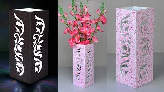 Download Flower vase and Night lamp making // Stylist flower vase making at home Video