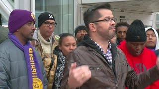 Download Workers Strike For Higher Wages, Speak Out Against Racism Video