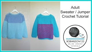 Download Adult Crochet Sweater Part 3 of 3 - Sleeves and edging Video