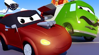 Download Carlo the PIZZAIOLO has been stolen by a MASKED ROBBER! - The Car Patrol Fire Truck Police Car Video