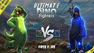 Download [🔴LIVE ] FREE FIRE ULTIMATE DINO FIGTHERS - BATALHA DE YOUTUBERS 20X20 - EAE PRA QUEM VAI TORCER ? Video