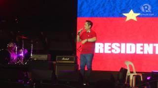 Download Martin Andanar at pro-Duterte gathering in Luneta Video