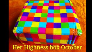 Download Her Highness box Oct 2017   Discount Code  Unboxing and Review   Makeup   Skincare   Jewelry Video