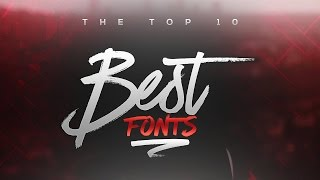 Download Best FREE Fonts to Use for YouTube 2017! (for Banners/Headers/Logos) Video