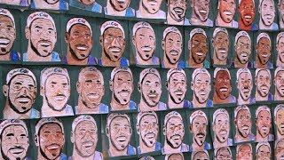 Download Kids create 500 portraits of LeBron James in hopes of World Record Video