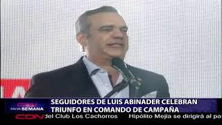 Download Seguidores de Luis Abinader celebran triunfo en comando de campaña Video