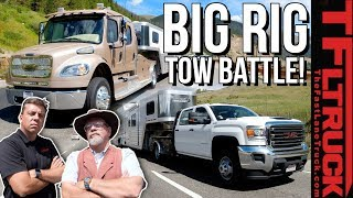 Download 2020 Freightliner Luxury Hauler vs GMC Dually vs World's Toughest Towing Test | Ike Gauntlet Video