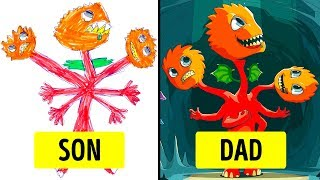 Download Parents Turned Their Kids' Drawing Into Masterpieces Video