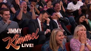 "Download Sacha Baron Cohen Shows EXTREMELY Graphic Movie Clip to ""Kimmel"" Audience Video"
