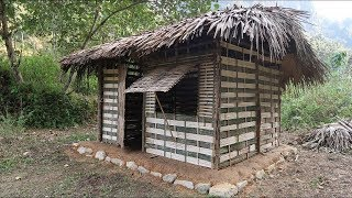 Download Primitive technology - Use the stone to make primitive hut, Made of bamboo (Part-2) Video