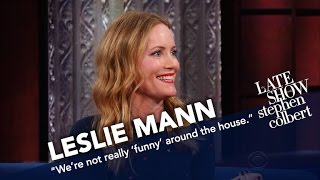 Download Leslie Mann Doesn't Think Husband Judd Apatow Is Funny Video
