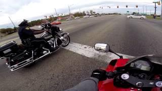 Download CBR600RR Vs Police Harley Davidson Video