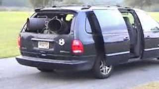 Download Van with gas turbine helicopter engine Video