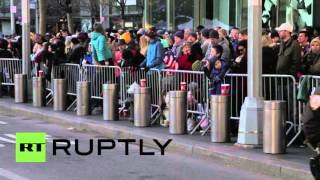 Download USA: Security heightened at Macy's Thanksgiving Day Parade in NYC Video