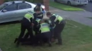 Download Footage shows Victorian police pin down and hit pensioner Video