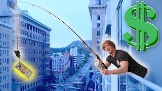 Download FISHING FOR PEOPLE OFF MY BALCONY! (**Money Bait**) Video