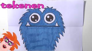 Download Happende monster tekenen - stap voor stap leren tekenen Video