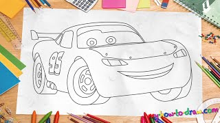 Download How to draw Lightning Mcqueen - Easy step-by-step drawing lessons for kids Video
