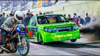 Download ⚡ MOTORCYCLE vs ISUZU DMAX ▶DRAG RACING Video