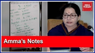 Download Jayalalithaa's Handwritten Notes Released By Arumugasamy Commission Video