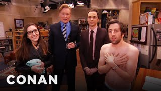 Download Jim Parsons & Conan Raid The ″Big Bang Theory″ Set With A Fan Video