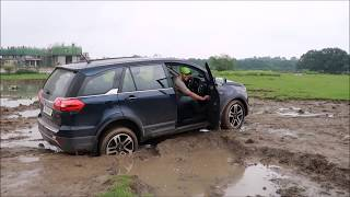 Download Offroad Tata Hexa 4x4 in deep slush almost getting stuck Video