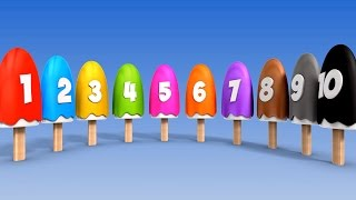 Download Learn Numbers with Number Ice Cream Popsicles Song | Numbers Songs for Children Video