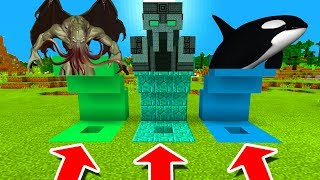Download Minecraft PE : DO NOT CHOOSE THE WRONG HOLE! (Cthulhu, The Admin Boss & Orca) Video