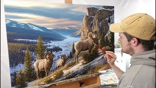 Download Landscape Painting Time-lapse | ″Western Beauty″ Video