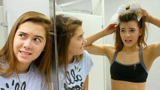 Download GYMNASTS TRY CHEERLEADING! Video