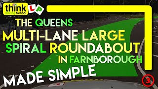 Download Queens Multi-lane Roundabout Farnborough test centre, From Think Driving School Video