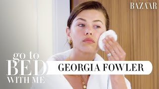 Download Top Model Georgia Fowler's Nighttime Skincare Routine For Normal Skin | Go To Bed With Me | BAZAAR Video
